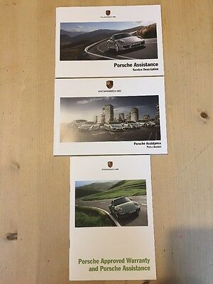 PORSCHE ASSISTANCE BOOKLETS 911 CAYENNE BOXSTER From Owners Handbook Manual Book