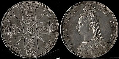narkypoon's UNCIRCULATED 1887 Victoria Golden Jubilee STERLING SILVER Florin