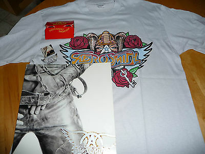 Aerosmith 1987 Permanent Vacation Tour Program + Binoculars + T-Shirt +Pin+Badge
