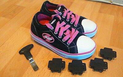 Heelys X2 girls size 12 junior with tool and plugs excellent condition
