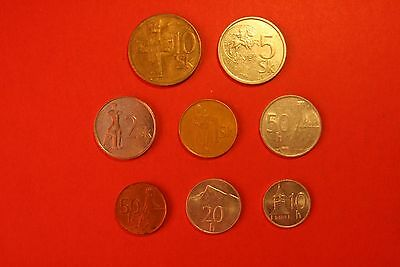 Lot of 8 coins from Slovakia (whole set!!)
