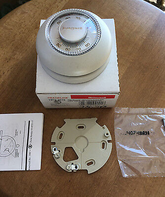 Honeywell T87F2873 Round Heating/Cooling Thermostat 24 Volt original Taupe T87F
