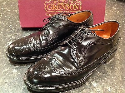 Classic Men's Grenson's Footmaster Black All Leather Shoes Size 8
