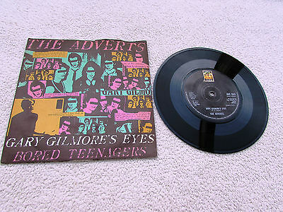 "The Adverts 7"" Gary Gilmore's Eyes Orig Uk Anchor 1977 1St Press P/s Near Mint"