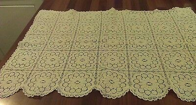 Vintage White Cotton Lace Large Chair Back /cover / Sofa Back Or Window Cafe Net
