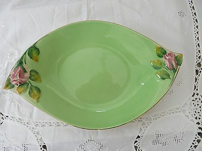 Royal Winton Grimwades- hand painted oval dish with rosebuds