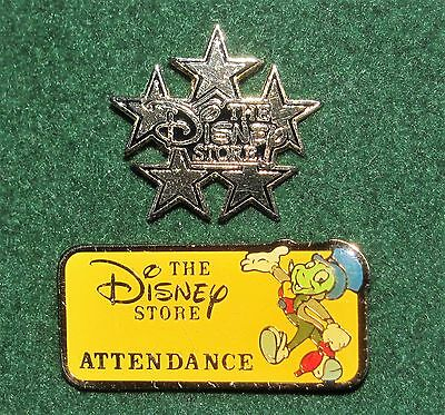 Jiminy Cricket / Attendance & Traditions Original Disney Store CM pins FREE SHIP