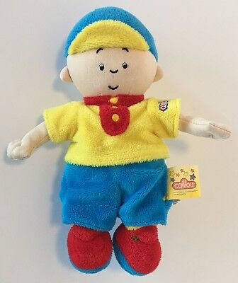 Caillou Plush Doll Stuffed Toy Primary Color Outfit