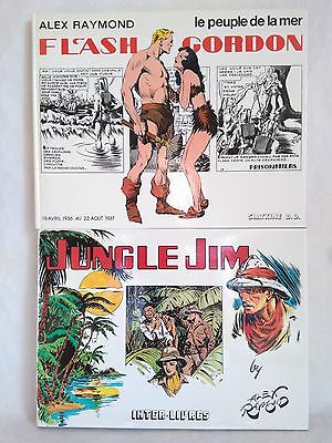 "2 BD Alex Raymond Flash Gordon""Le peuple de la mer""Slatkine + Jungle Jim Inter-L"