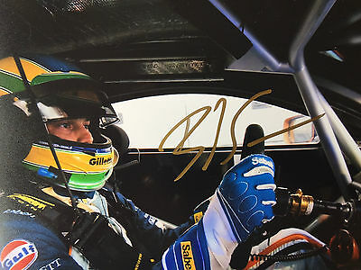 Bruno Senna hand signed Aston Martin Le Mans 10x8 picture