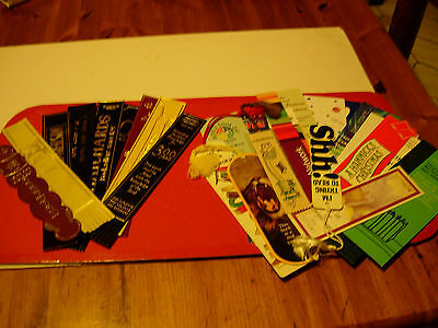 27 Leather & Card Bookmarks - Bookshops & Book Themes - See pictures