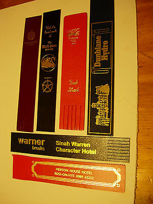 6 Leather Bookmarks - From Hotels & Public House - vgc