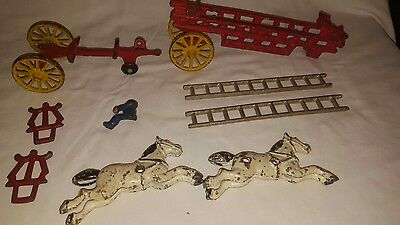 Cast Iron Horse Drawn Antique 19th Century Toys for Parts American Hubley