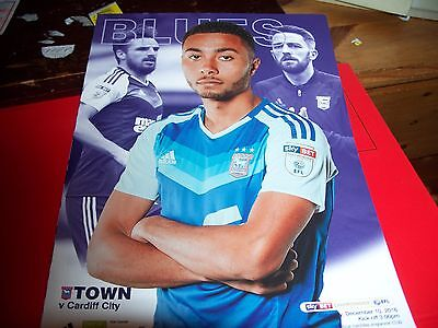 IPSWICH TOWN v CARDIFF PROGRAMME 10/12/2016