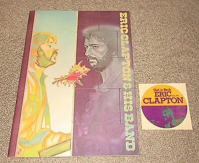 With PROMO STICKER Eric Clapton JAPAN tour book 1975 more listed CONCERT PROGRAM
