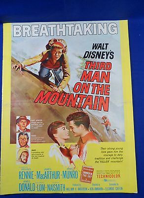 Vintage Disney Third Man on the Mountain with Ad Pad Press Kit Campaign Book