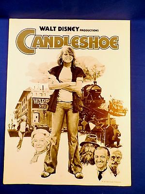 Vintage 1977 Disney Candleshoe with Ad Pad Press Kit Campaign Book RARE