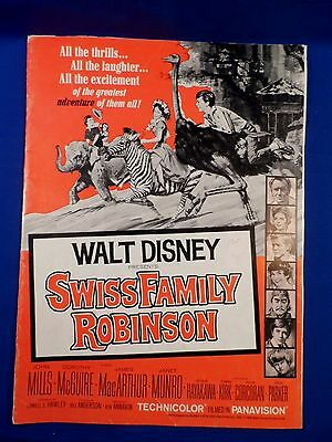 Vintage 1968 Disney Swiss Family Robinson Press Kit Campaign Book RARE!