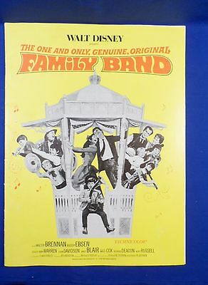 Vintage 1967 Disney Family Band with Ad Pad Press Kit Campaign Book RARE!