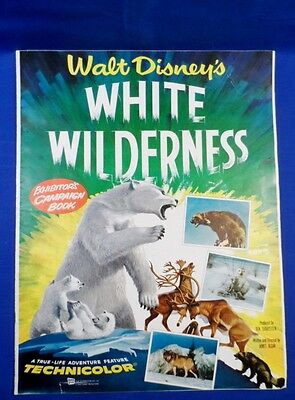 Vintage Disney White Wilderness Exhibitors Campaign Book Press Kit with Ad Pad