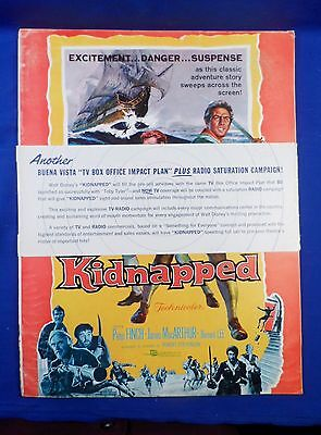 Vintage Disney 1971 Press Kit Robert Louis Stevenson's Kidnapped with Ad Pad WOW
