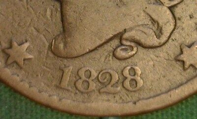 1828 Coronet Head Large Cent - Large Narrow Date ?
