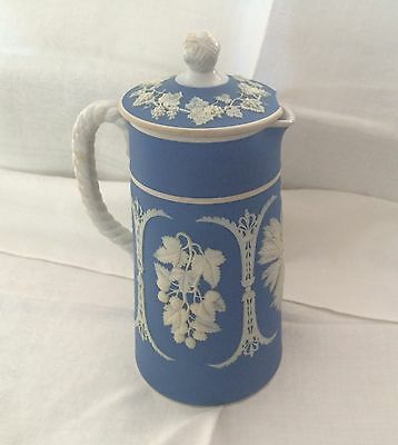 Lovely Antique Jasperware Coffee Pitcher, Paxton, Made in England