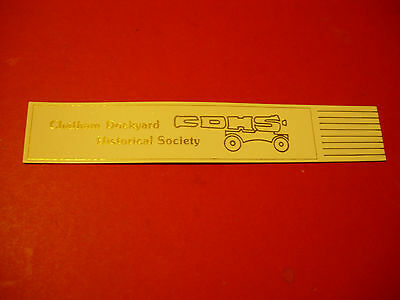 White Leather Bookmark -Chatham Dockyard Historical Society  Excellent Condition