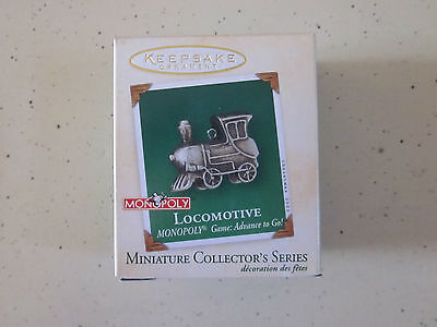 Hallmark Ornament 2001 Miniature Race Car Monopoly Game 2nd in Series
