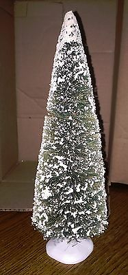 """Dept 56 Village Frosted Topiary Pine Tree 11 1/2"""" Tall 5200-0"""