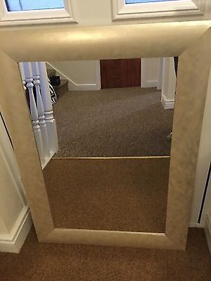 Large Wall Mirror With A Soft Gold Colour Frame