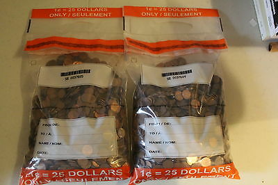 5000 Canadian Pennies Pre 1996 Copper 98% CANADA 1 cent coins BULLION