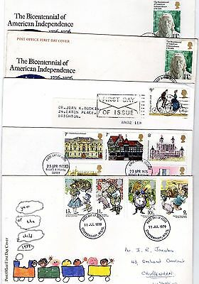 1970's VARIOUS FDC X 10 FROM COLLECTION 2B/05