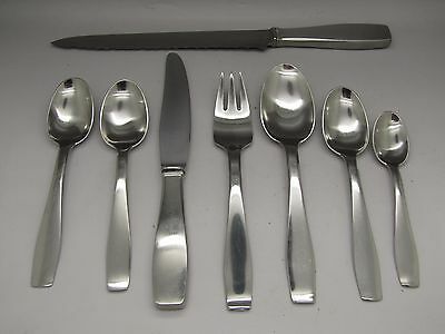 George Jensen Stainless Steel Cutlery Place Setting Knife Spoon Vintage Danish