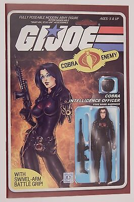 Gi Joe #216 Action Figure Variant Cover - Baroness By Adam Riches