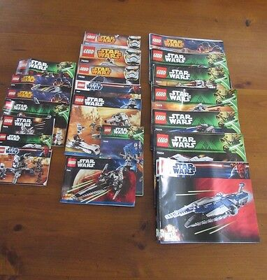 Star Wars LEGO Bulk Lot INSTRUCTIONS - over 20 different booklets