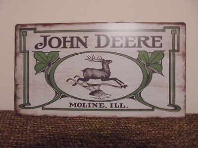 John Deere Vintage Look Moline,illinois Sign Plastic Composite Brand New