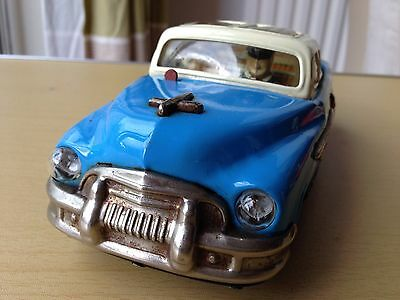 Vintage Japan Tinplate Battery Operated Toy Car With Working Head Lights