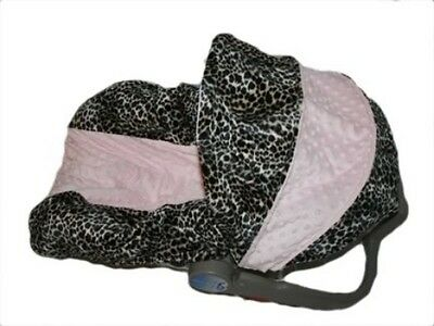 NEW Infant MINKY CAR SEAT COVER-For Graco Evenflo-LILLY- Lightly Padded