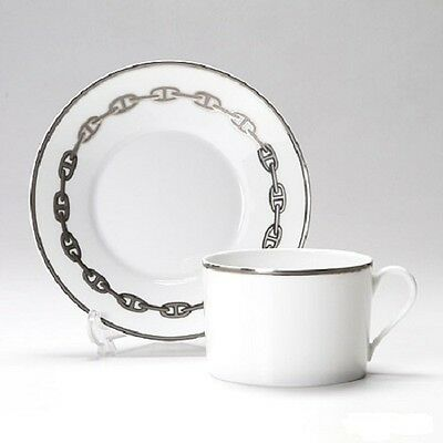 004116P HERMES CHAINE D'ANCRE PLATINE n.1 pcs Tea Cup and Saucer