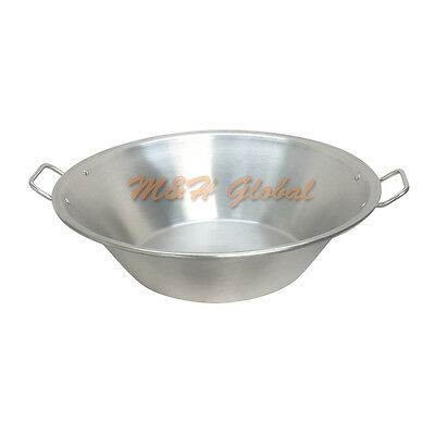 Stainless Steel 22'' Cazo Carnitas Flat Base Outdoor Cooking Stock Pot