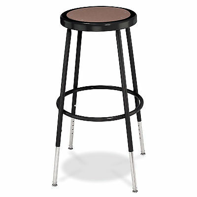 National Public Seating Adjustable Height Black Round Seat Stool