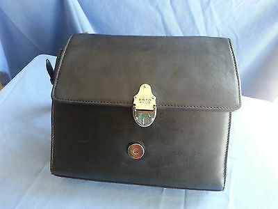 ENZO ANGIOLNI Black Leather Shoulder bag small  excell. condition Clean
