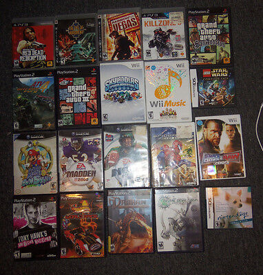 Lot of 20 Video Game Cases ONLY Nintendo Playstation