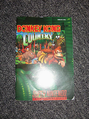 Super Nintendo SNES Donkey Kong Country Instruction Manual ONLY