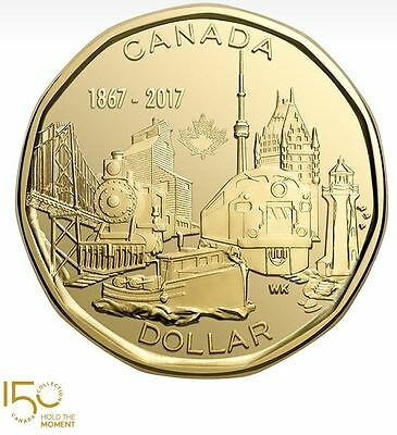 2017 Canada 150 Special Edition $1 Dollar Coin BU Connecting A Nation