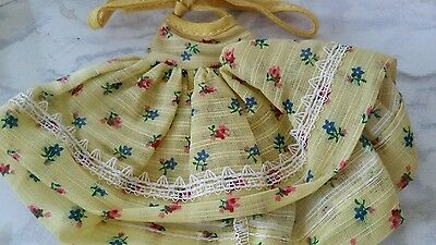 YELLOW PRINT DOLL CLOTHES FITS  MUFFIE 1950s  Print  dress FLORAL