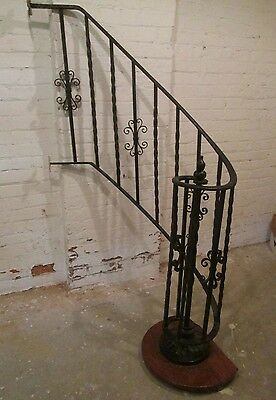 Wonderful Wrought Iron Staircase Section  From Deco 30's Tudor Hyde Park Home