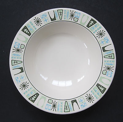 TST Taylor Smith Taylor Cathay Atomic Geometric Modern Rim Soup Bowl 7 5/8""