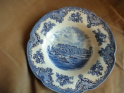 Johnson Brothers Rimmed Soup Bowl Old Britain Castles Blue England